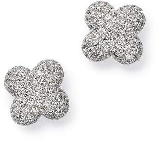 Bloomingdale's Diamond Clover Stud Earrings in 14K White Gold, 0.60 ct. t.w. - 100% Exclusive