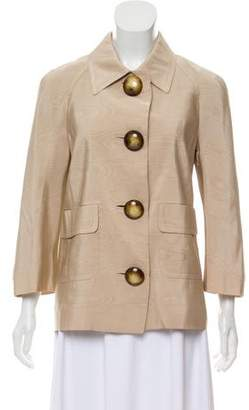 Michael Kors Button-Up Silk Jacket