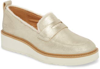 a9e69074bf4 UGG Atwater Metallic Wedge Loafer