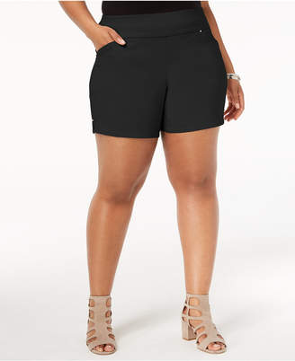 INC International Concepts I.n.c. Plus Size Pull-On Shorts