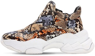Jeffrey Campbell 40mm Python Print Leather Sneakers