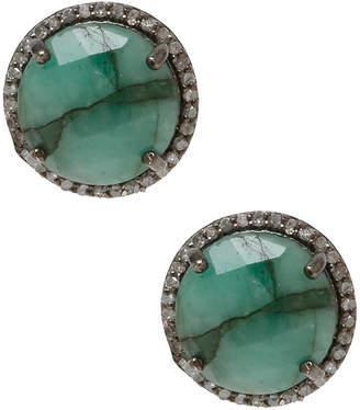 Adornia Fine Jewelry Silver 8.54 Ct. Tw. Emerald Studs