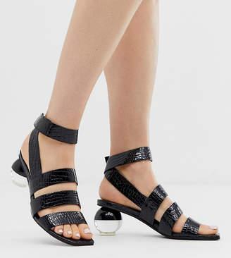 Jeffrey Campbell Exclusive Nebolon mock croc mid heeled sandal