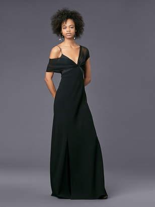 Diane von Furstenberg Asymmetric Sleeve Knotted Gown