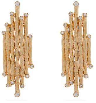Venini The Attico - X Alican Icoz Crystal Embellished Earrings - Womens - Gold