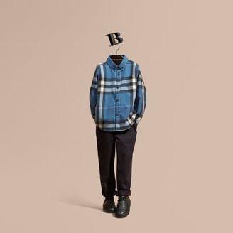 Burberry Check Cotton Flannel Button-down Shirt $150 thestylecure.com