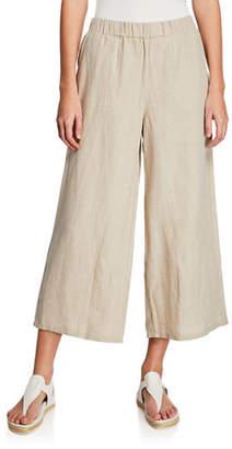 Eileen Fisher Organic Linen Wide-Leg Crop Pant
