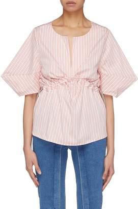 Aalto Drawcord waist stripe poplin top