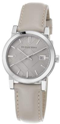 Burberry Women's BU9107 Large Check Tan Leather Strap Watch