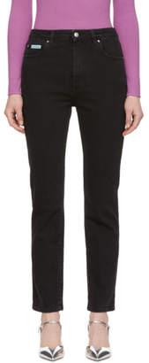 ALEXACHUNG Black Slim Leg Jeans