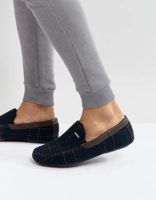Ted Baker Morris Moccasin Checked Slippers