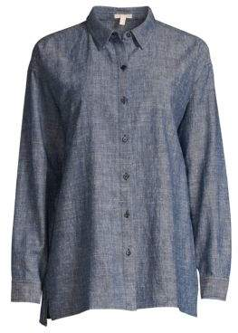 Eileen Fisher Chambray Button-Down Shirt