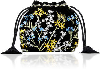Etro Chatelaine Floral Embroidered Pouch