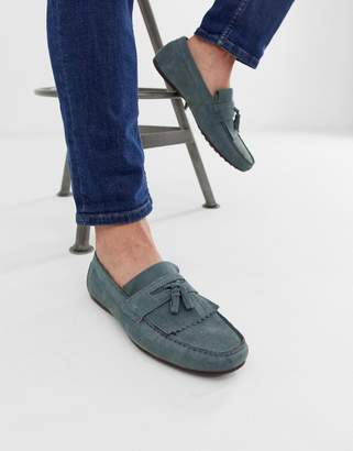 Asos Design DESIGN driving shoes in blue suede