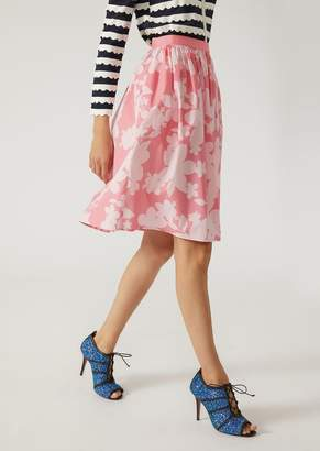 Emporio Armani Flared Floral Skirt