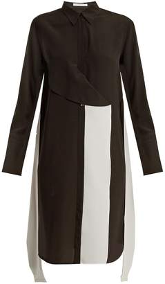 Givenchy Contrast-panel silk crepe de Chine shirtdress