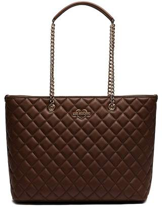 Love Moschino Quilted PU Leather Shoulder Bag