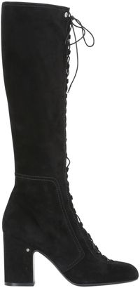 70mm Mina Lace-Up Suede Boots $1,580 thestylecure.com