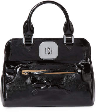 Longchamp Women's Gatsby Small Patent Leather Convertible Tote