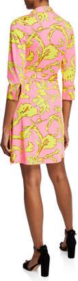 Julie Brown Milo Wrap-Front Stretch Dress