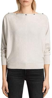 ALLSAINTS Elle Snap-Detail Sweater $140 thestylecure.com