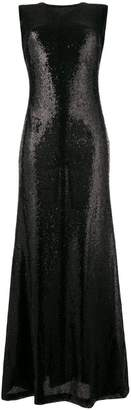 P.A.R.O.S.H. sleeveless sequin long dress