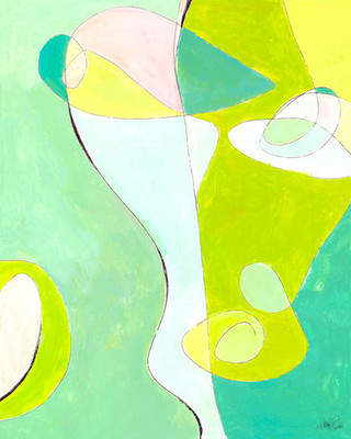 GreenBox Art 'Face See' It by Jennifer Mercede Painting Print on Wrapped Canvas