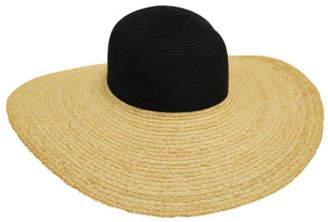 Bondi Beach Bag Co NEW Colour Blocked Floppy Hat Black