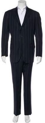 Etro Striped Wool Suit