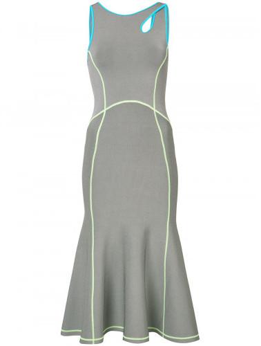 Alexander WangAlexander Wang contrast seam fitted dress