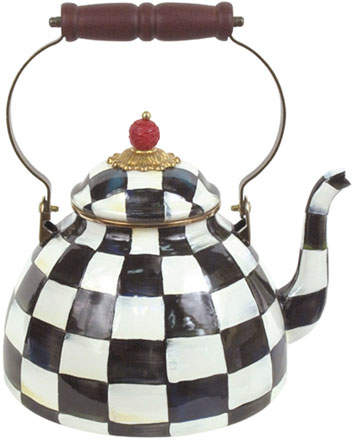 Mackenzie Childs MacKenzie-Childs Courtly Check Two-Quart Tea Kettle