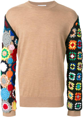 J.W.Anderson jumper with crochet knit sleeves