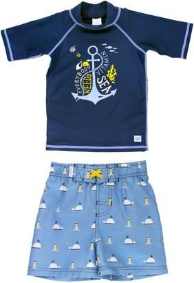 RuggedButts Vitamin Sea Rashguard & Board Shorts Set