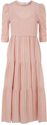 See by Chloe Cotton Voile Puff Sleeve Dress