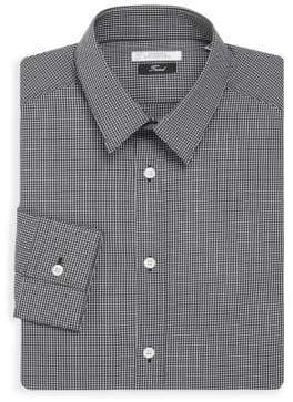 Versace Trim-Fit Checked Cotton Dress Shirt