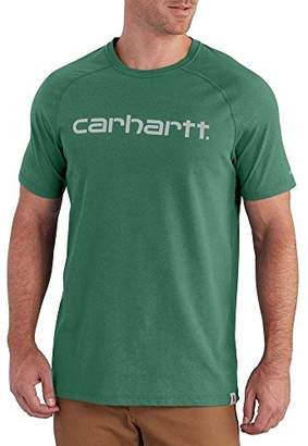 Carhartt Men's Big and Tall Force Cotton Delmont Graphic Short Sleeve T-Shirt