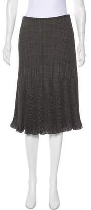 Magaschoni Wool Pleated Skirt