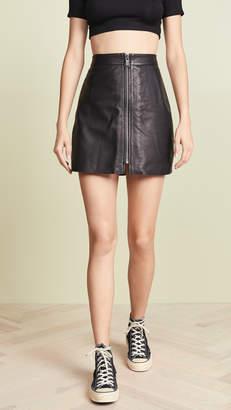 One Teaspoon Leather Vixen High Waist Skirt