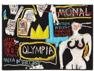 Olympia Le-Tan Olympia Le Tan X Basquiat Olympia Crown Book Clutch - Womens - Black Multi