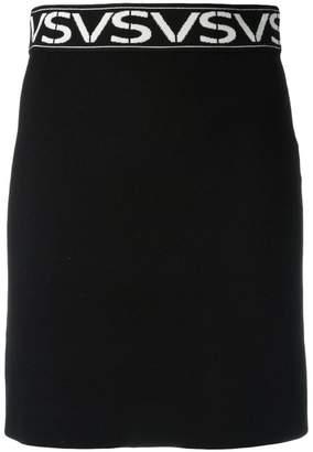 Versus logo intarsia skirt