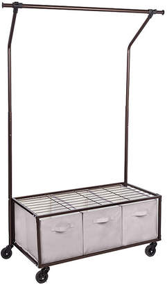 Honey-Can-Do Portable Garment Rack With Storage Bins