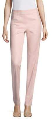 Piazza Sempione Cotton Sateen Side-Zip Pants