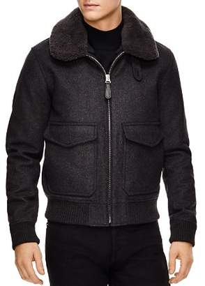 Sandro Aviator Gray Bomber Jacket