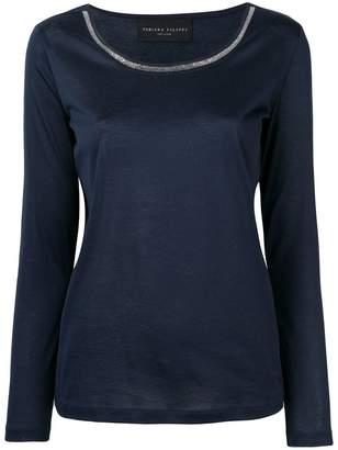 Fabiana Filippi contrasting collar sweatshirt