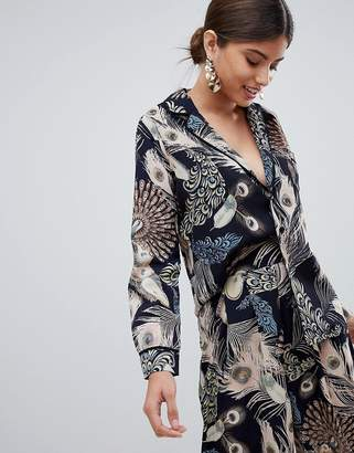 Missguided Feather Print Shirt