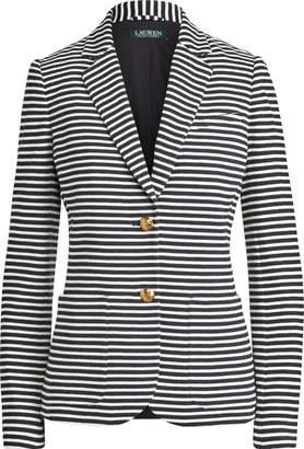 Ralph Lauren Striped Pique Blazer