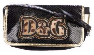 Dolce & Gabbana Snakeskin-Trimmed Shoulder Bag