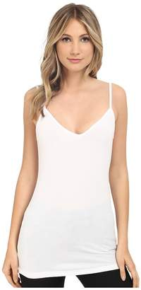 Heather Rib Bubble V-Cami Top Women's Short Sleeve Pullover