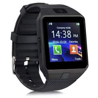 AmazingForLess 10 Pack DZ-09 Black Smart Watch Wholesale Lot Touch Screen Bluetooth Smart Wrist Watch - Supports SIM + Memory Card