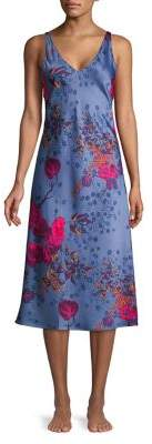 Natori N Impressions Long Satin Nightgown